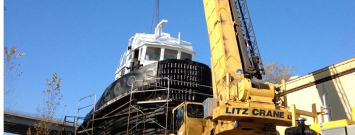 Tugboat Cab Installation